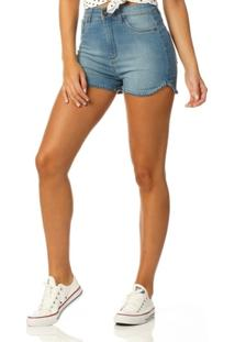 edf6b425471b9 ... Shorts Jeans Denim Zero Pin Up Estonado - Feminino