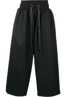 Fumito Ganryu Drawstring Waist Trousers - Preto