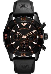 0ee37218bd6 Relógio Giorgio Armani Emporio Armani Masculino Vermelho Preto Silicone  Masculino-Preto Har5946 N -
