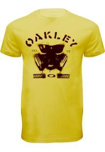 Camiseta Oakley Glassmask Amarela -Gg - Masculino