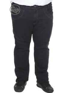 Calça Jeans Bigshirts Plus Size Lisa Preta