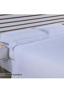 Jogo De Cama Hotel Queen Size- Branco- 4Pã§S- 300Niazitex