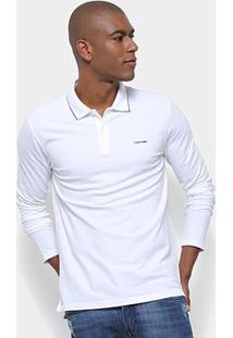 Camisa Polo Calvin Klein Manga Longa Slim Masculina - Masculino