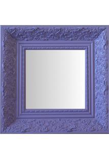 Espelho Moldura Rococó Fundo 16441 Lilás Art Shop