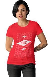 Camiseta Ezok Skate Lane Feminina - Feminino-Vermelho