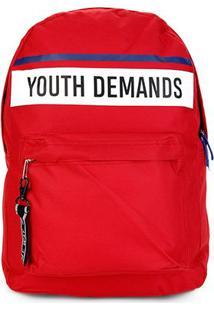 Mochila Clio Youth Demands - Masculino-Vermelho