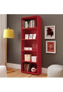 Estante Para Livros Multy Vermelho - Artely