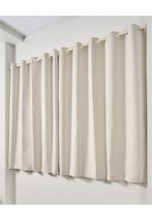 Cortina Blackout De Varão Trevalla Decor 280X230Cm Creme