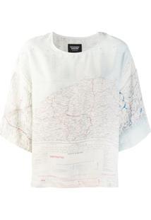 Raeburn Blusa Estampada - Branco