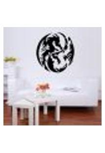 Adesivo De Parede Dragão Yin Yang - Es 118X111Cm