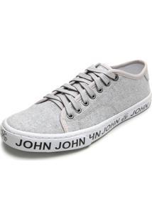 Sapatênis John John Lettering Cinza