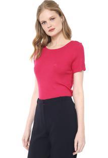 Blusa Dudalina Canelada Rosa