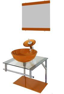 Gabinete De Vidro Para Banheiro Polônia Dourado Real Ekasa