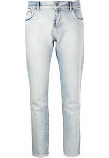 Emporio Armani Calça Jeans Slim Cropped - Azul