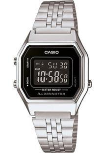 Relógio Feminino Casio Vintage Digital - Feminino-Prata