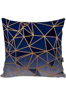 Capa De Almofada New Geometric- Azul & Azul Marinho-Stm Home