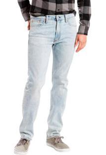 Calça Jeans Levis 513 Slim Straight Lavagem Clara Masculina - Masculino-Azul Claro