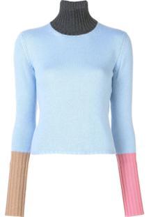 Marni Suéter Color Block - Azul