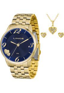Kit Relógio Lince Feminino Com Colar E Brincos Lrg4604Lkw08D2Kx