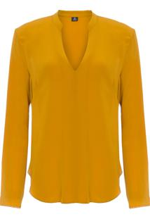 Blusa Feminina Casual Silk - Amarelo