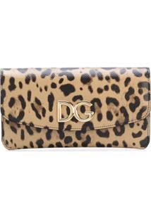 Dolce & Gabbana Carteira Animal Print De Couro - Marrom