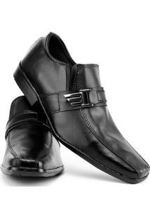 Sapato Social De Couro - Masculino-Preto
