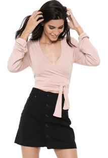 Blusa Cropped Hurley Transcend Rosa