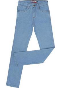 Calça Jeans Delavê Rodeo Western Masculina - Masculino-Azul