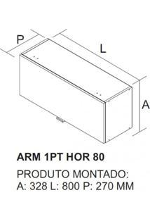 Armário 1 Porta Basculante Horizontal Itatiaia Branco