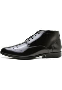 Sapato Social Reta Oposta 7580 Lux Preto