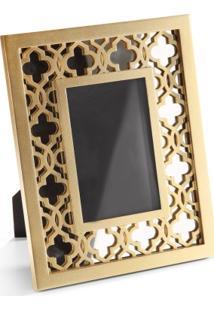Porta Retrato 13Cm X 18Cm Oriente Trellis Ouro