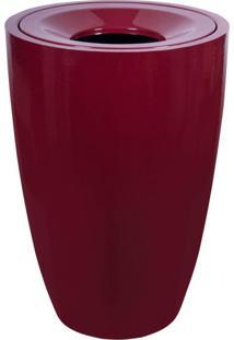 Lixeira Em Fibra De Vidro 100L Lfv1F Astra Vermelho