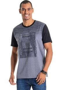 Camiseta Com Mangas Contrastantes Cinza Bgo