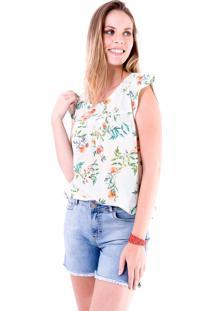 Blusa Estampada Gup'S Jeans Floral Verde