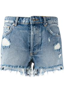 Liu Jo Short Jeans Destroyed - Azul