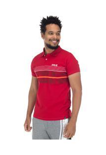 Camisa Polo Fatal Estampada 16972 - Masculina - Vermelho