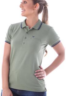 Camisa Polo Cp0720 Verde Oliva Traymon Modelagem Regular