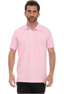 Camisa Polo Clube Náutico Slim Masculino - Masculino-Rosa