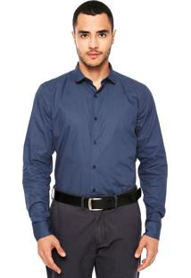 Camisa Vila Romana Estampada Azul