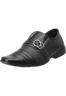 Sapato Social Eleganci Preto Fosco