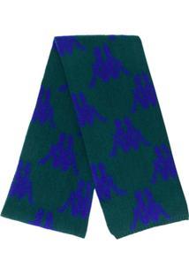 Kappa Cachecol De Tricô Monogramado - Verde