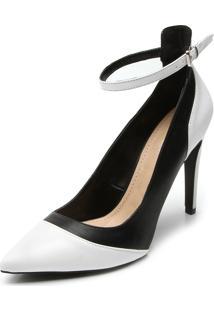 Scarpin Dafiti Shoes Bicolor Branco