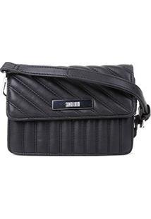 Bolsa Santa Lolla Mini Bag Matelassê Feminina - Feminino-Preto