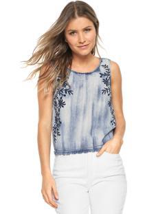 Regata Jeans Lunender Floral Azul