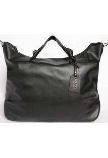 Bolsa Com Nã³S & Bag Charm - Preta- 34X42X14Cmmr. Cat