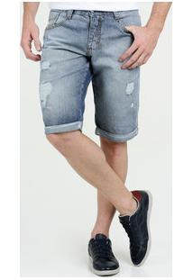 Bermuda Masculina Jeans Destroyed Biotipo