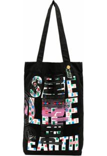 Katharine Hamnett London X Noki Graphic Print Upcycled Bag - Preto