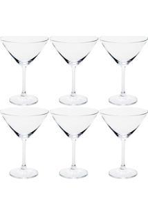 Taça Para Martini Bohemia Vidro 6 Peças 280Ml - 106208
