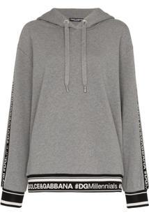 Dolce & Gabbana Blusa De Moletom Com Logo - Cinza