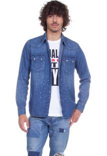 Camisa Jeans Levis Sawtooth Western Azul